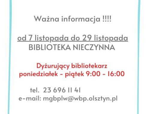 Ważna informacja !!!!