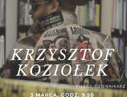 Spotkanie autorskie z Krzysztofem Koziołkiem.