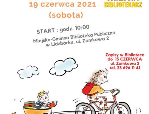 """""""Odjazdowy Bibliotekarz"""" – III lidzbarski rajd rowerowy."""